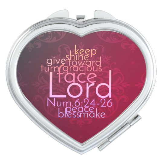 Christian Priestly Blessing Word Art Mirror For Makeup