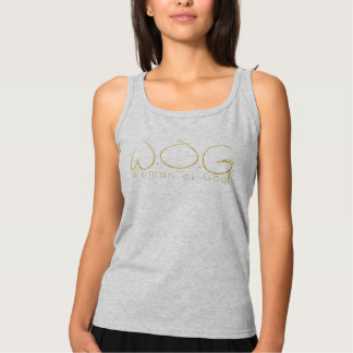 Christian Prophetic Gold WOMAN OF GOD Tank Top