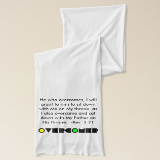 Christian Prophetic OVERCOMER Prayer Scarf