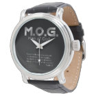Christian Prophetic Silver MAN OF GOD PSALM 1:1 Watch
