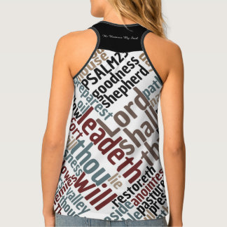 Christian PSALM 23 He Restores My Soul Tank Top
