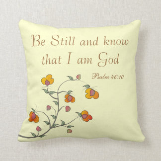 Christian Psalm Pillow, Psalm 46:10 Throw Pillow