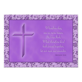 Christian Purple Passion Wedding Invitation