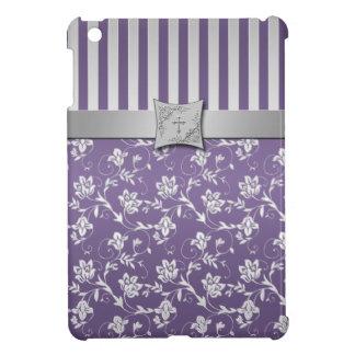 Christian Purple Silver Floral iPad Mini Case