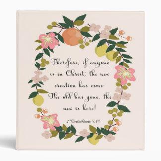 Christian Quote Art - 2 Corinthians 5:17 Binder