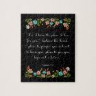 Christian Quote Art - Jeremiah 29:11 Jigsaw Puzzle