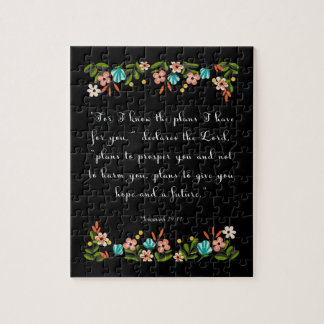 Christian Quote Art - Jeremiah 29:11 Jigsaw Puzzle