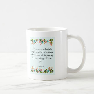Christian Quote Art - Luke 10:19 Coffee Mug