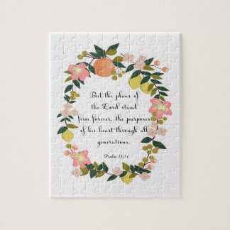 Christian Quote Art - Psalm 33:11 Jigsaw Puzzle