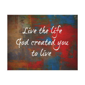 Christian Quote Canvas Gallery Wrap Canvas