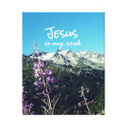 Christian Quote: Jesus is my Rock Canvas Print