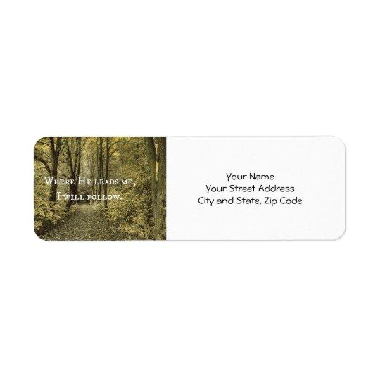 Christian Quote Return Address Label