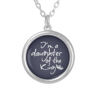 Christian Quotes: Daughter of the King Silver Plated Necklace