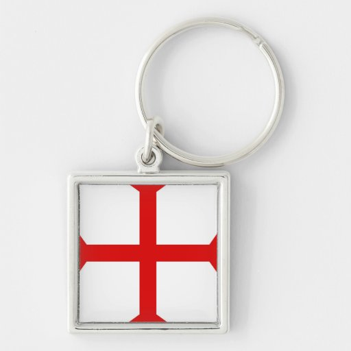 Christian Red Cross Key Chains