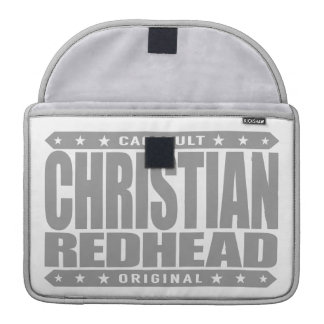 CHRISTIAN REDHEAD - I'm God's Fiery Phoenix Rising MacBook Pro Sleeve