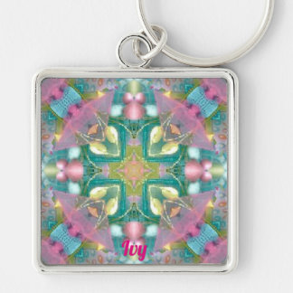 Christian Religious Cross ~ Personalised IVY ~ Keychain