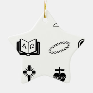 Christian religious signs and symbols ornaments