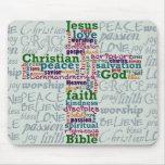 Christian Religious Word Art Cross