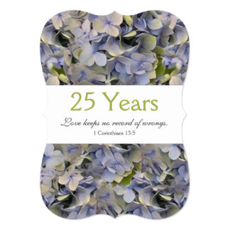 "Christian Renewing Vows Wedding Anniversary 5"" X 7"" Invitation Card"