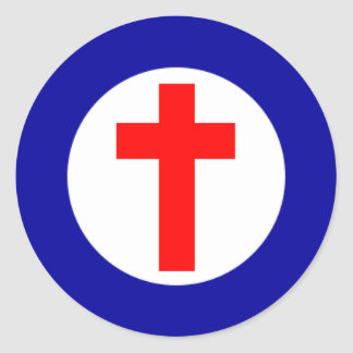 Christian Roundel Round Sticker