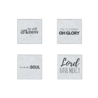 Christian Sayings Stone Magnets