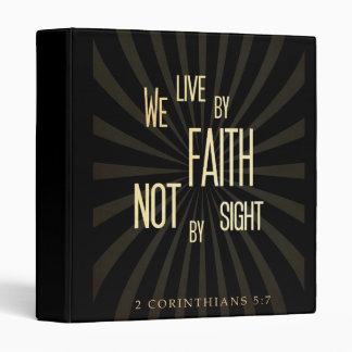 Christian Scriptural Bible 2 Corinthians 5:7 3 Ring Binders
