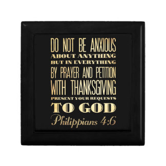Christian Scriptural Bible - Philippians 4:6 Gift Box
