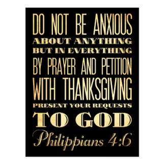 Christian Scriptural Bible - Philippians 4:6 Postcard