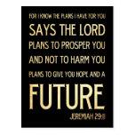 Christian Scriptural Bible Verse - Jeremiah 29:11 Postcards