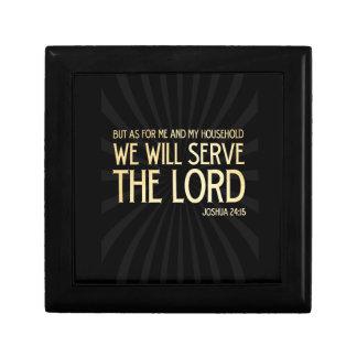 Christian Scriptural Bible Verse - Joshua 24:15 Gift Box
