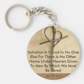 CHRISTIAN SCRIPTURE BIBLE VERSE 1 SIDED KEYCHAIN