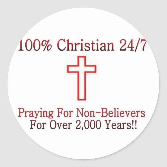 Christian Shirt 3 Classic Round Sticker