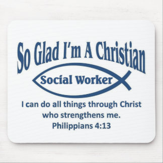Christian Social Worker Mouse Pads