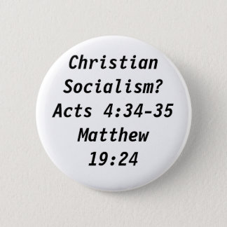 Christian Socialism? 2 Inch Round Button