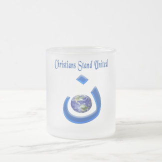 christian solidarity 10 oz frosted glass coffee mug