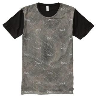 "Christian Spiritual Brushed Metal ""loved"" All-Over-Print T-Shirt"
