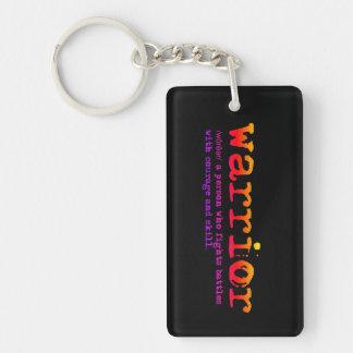 Christian Spiritual WARRIOR DEFINITION Keychain