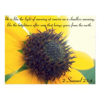 Christian Sunflower Postcard