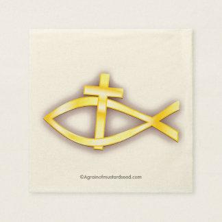 Christian Symbols Paper Napkin