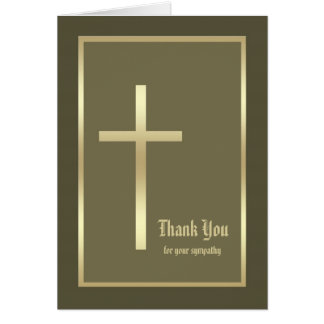 Christian Sympathy Thank You Note Card