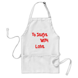 Christian t shirt -to serve with love standard apron