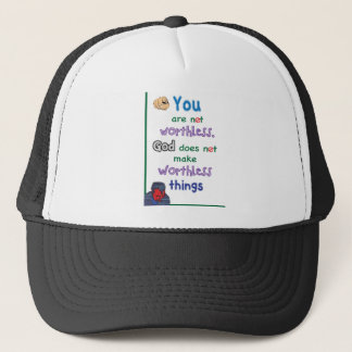 Christian Tee Shirt You Are Worth Trucker Hat