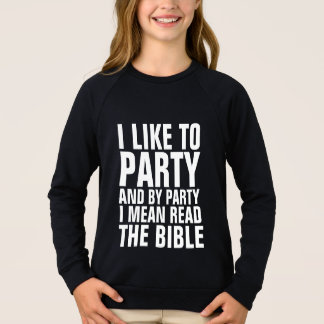 Christian Tees Kids BY PARTY I MEAN READ THE BIBLE