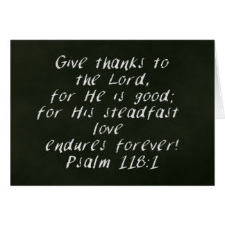 Christian Thanksgiving Chalkboard Photo Card