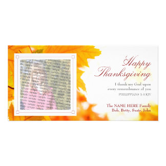 Christian Thanksgiving Photo Card