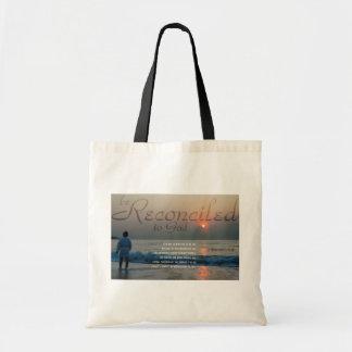 Christian tote bag with inspirational Bible Qutoe