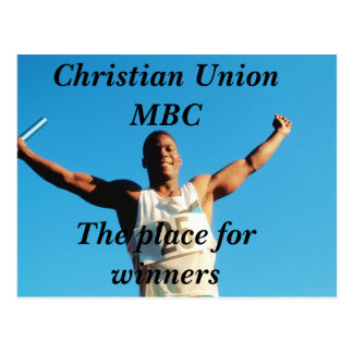 Christian Union MBCThe place for winners Postcard
