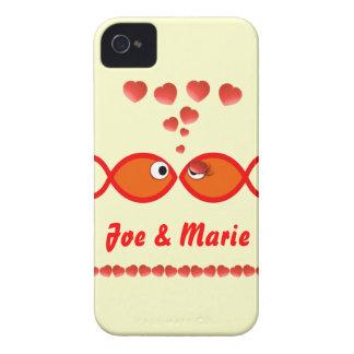Christian Valentine Symbols - Orange v1 iPhone 4 Case