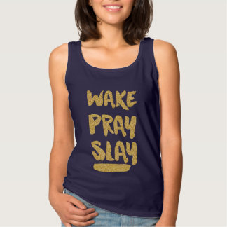 Christian Wake Pray Slay Tank Top