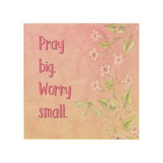 Christian Wall Art - Pray Big, Worry Small